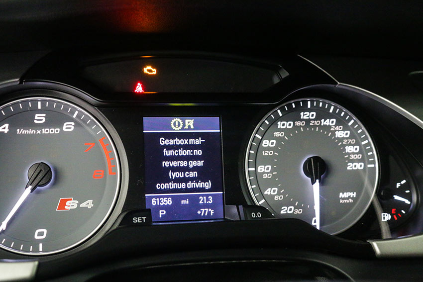 Audi DSG Limp Mode Message